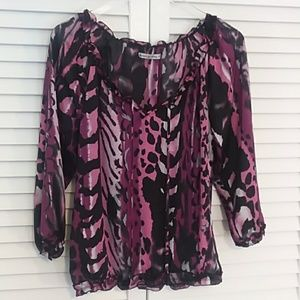 Larry Levine Lightweight Purple Top